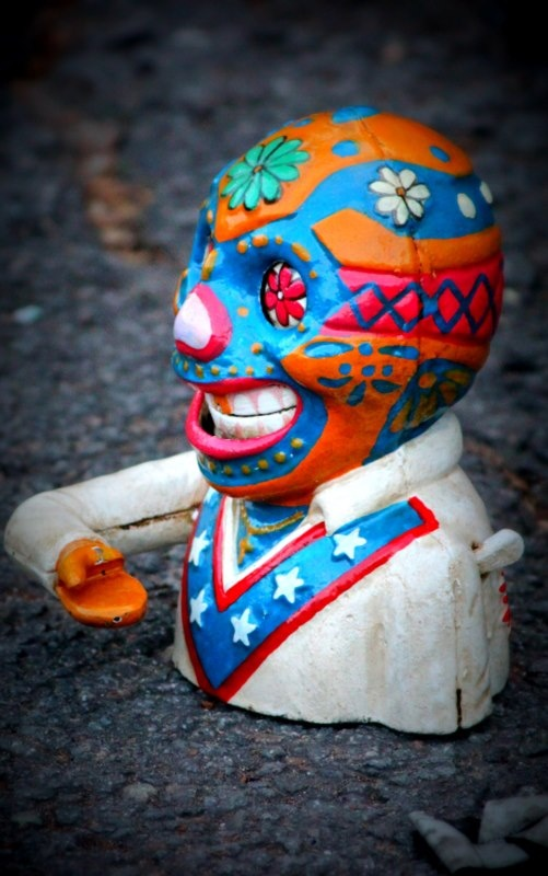 Day of the Dead coin-eater money bank!Coins Eating Money, Coineat Money, Money Banks