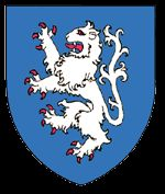 Coat of Arms in Joan Foxley's descent from the Brienne line
