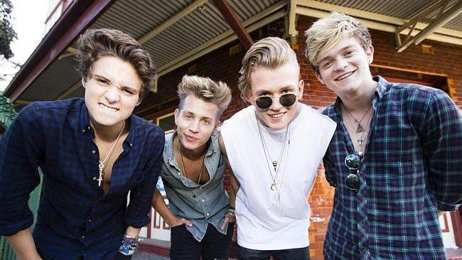 The Vamps: Brad Simpson, James McVey, Tristan Evans and Connor Ball are in Sydney for the