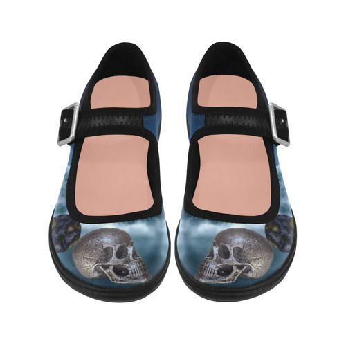 Skull and Moon Virgo Instep Deep Mouth Shoes