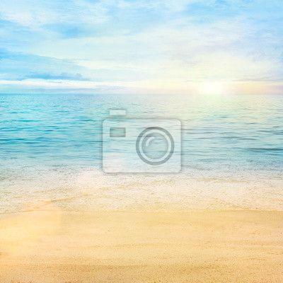 Fototapeta morze i piasek - przygotowanie • PIXERS.pl