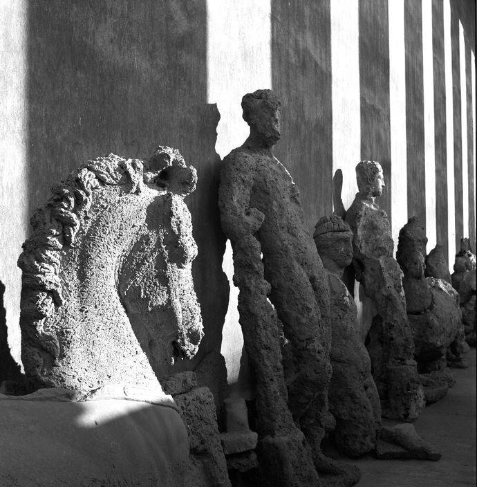 Herbert List - GREECE. Athens. National Museum. Statues retrieved by fishermen…
