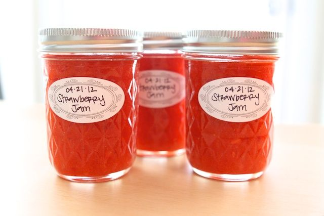 how to make frozen strawberry jam