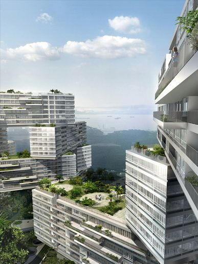 I pass by this condo development on the way to work every day. It's called the Interlace.