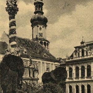 Sopron Városháza és Szt. Háromság-szobor