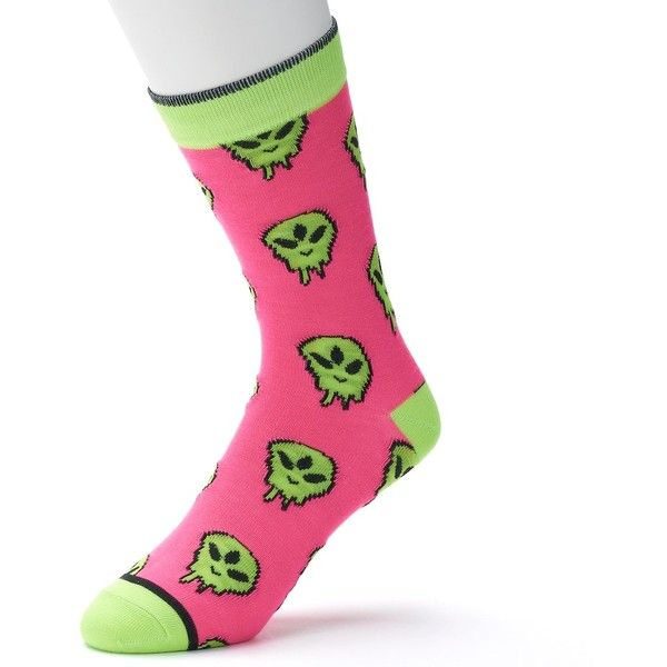 Men's Novelty Socks ($5.99) ❤ liked on Polyvore featuring men's fashion, men's clothing, men's socks, alien face and mens socks