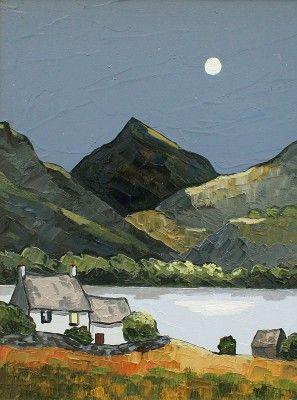 British Artist David BARNES-Snowdonian Night