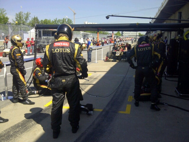 10th June 2012 - the Lotus team, ready for action!
