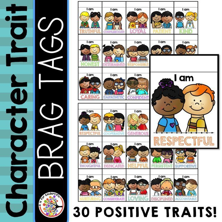 Character Trait Brag Tags are a great way to create a positive classroom climate!  This set includes 30 positive character traits! $