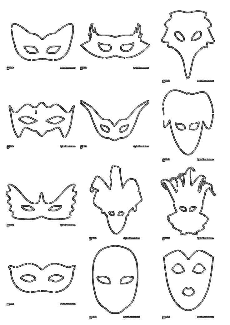 Plus de 30 masques classiques à décorer, à peindre ou à colorier pour carnaval.