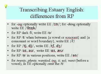 Estuary English