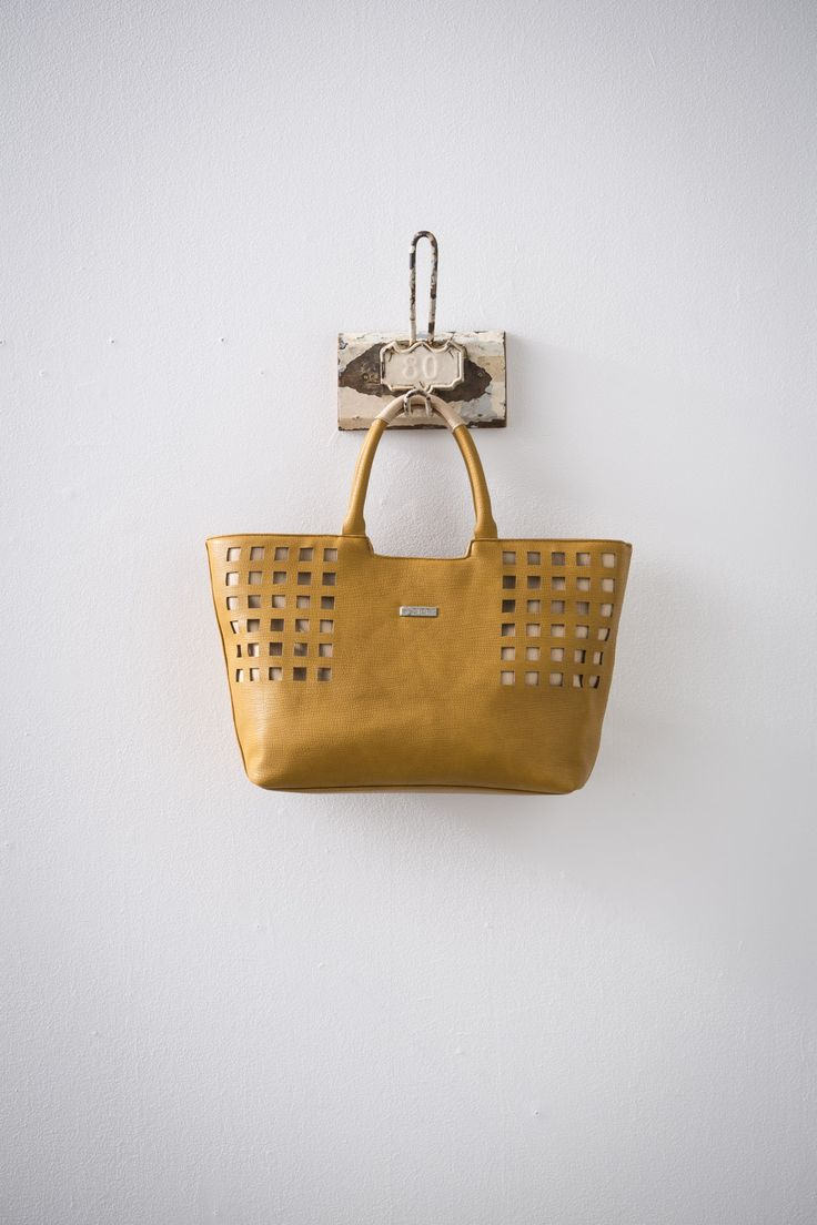 Bennu (Tumeric/Taupe) available at #zierashoes http://zierashoes.com/page/handbags