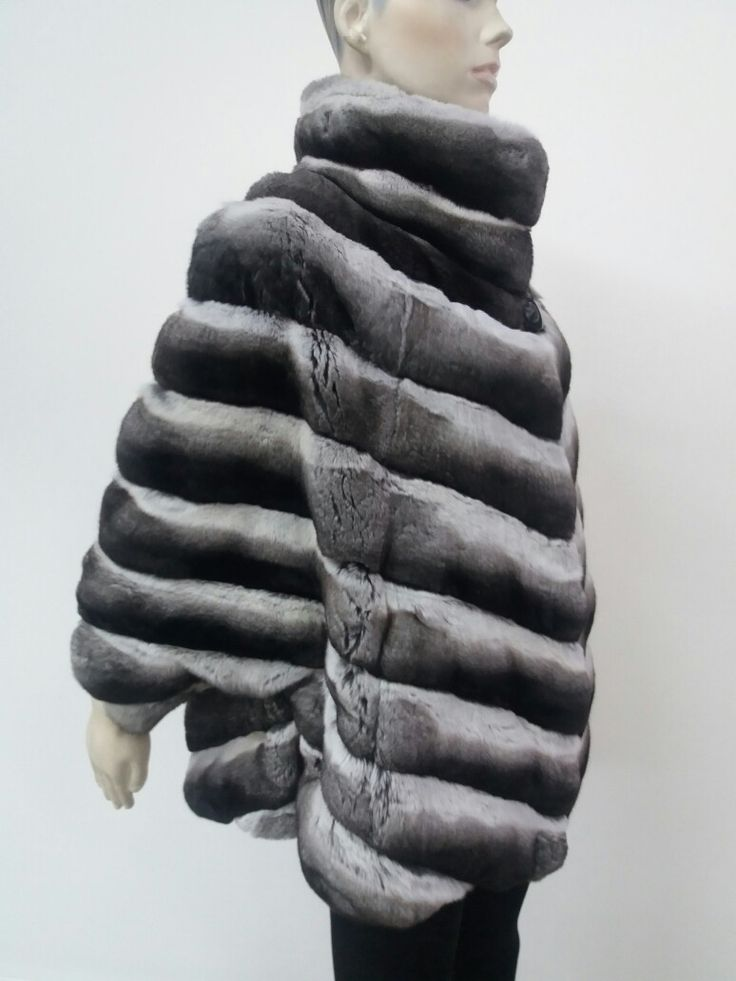 Natural chinchilla fur jacket hand made in kastoria Greece !!