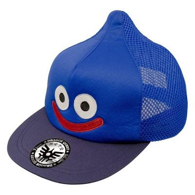NCSX import - Dragon Quest smile slime cap   Don a Dragon Quest Smile Slime Cap to signify your preference for the blue ooze as opposed to the Yankees Red Sox or any other sports team imprint that's regularly found on caps. The back of the cap is polyester mesh for easy breathability.  Grab yours here  from GoNintendo Video Games