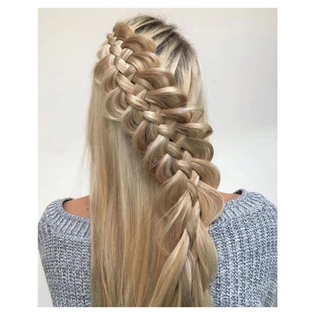Do you ever super pancake your braids and where would you wear this braid? ✨🌸✨Suspended Dutch 5 Strand braid ✨🌸✨ on @sarah.strongarms - #hbjbraids #hairbyjoel #london #hairstylist #braid #braids #5strand #dutchbraid #longhair #model  #inspiration #blonde #hairgoals #style #hair #hairstyle #goodhairday #hbjtextures