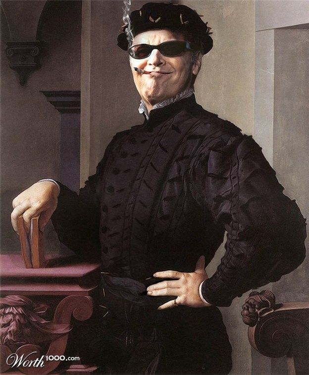 Jack Nicholson | 25 Classic Paintings Improved By Celebrities