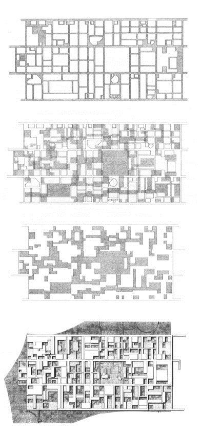 Original competition drawings illustrating the Free University of Berlin by Candilis, Josic, Woods and Scheidhelm