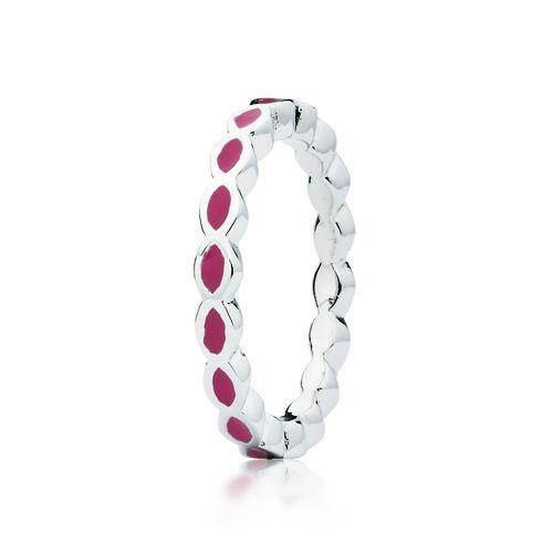 Ripple Stackable Ring in Purple Enamel