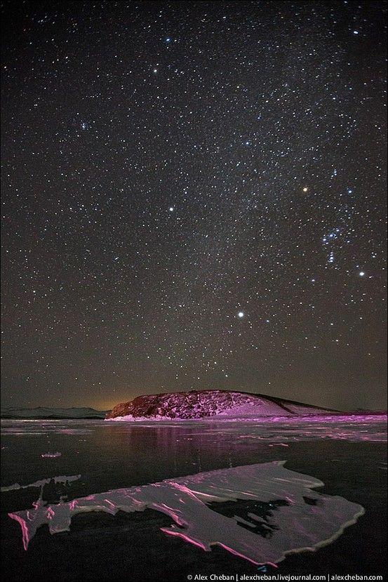 Milky way, Baikal lake, Siberia, Russia.   ~☆~