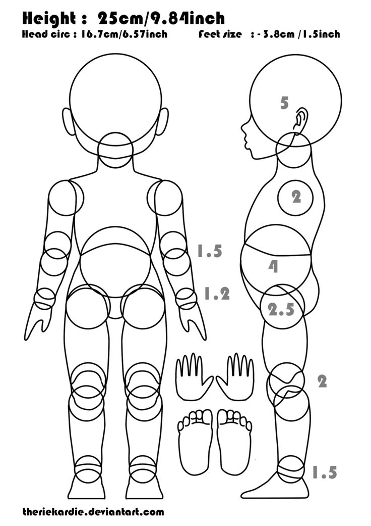 ball jointed doll blueprint - Google Search
