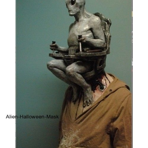 alien mind control halloween mask halloween costume hand painted movie quality - High End Halloween Decorations