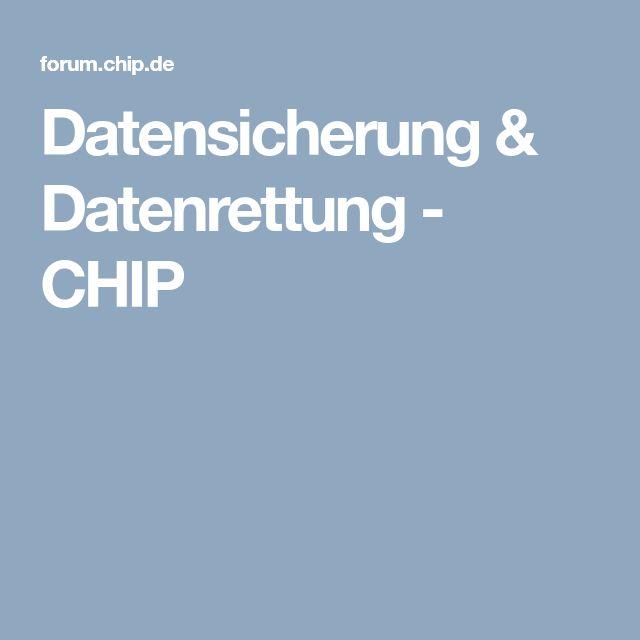 Datensicherung & Datenrettung - CHIP