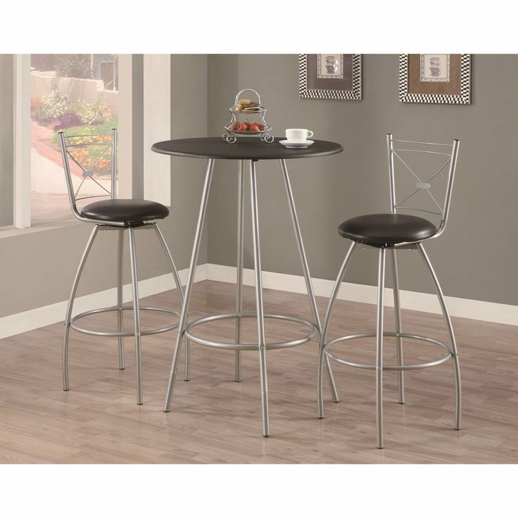 Charming Black / Silver Metal Bar Set | Enhance The Trendy Contemporary Look Of Your  Casual Dining Nice Design