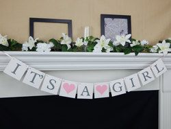 Its a girl banner girl baby shower decoration girl baby banner - http://www.babyshower-decorations.com/its-a-girl-banner-girl-baby-shower-decoration-girl-baby-banner/
