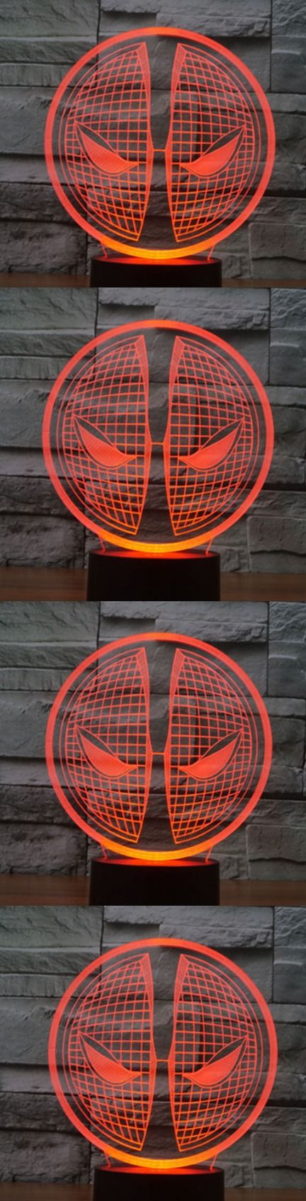 Deadpool 3D Led Table Lamp! Click The Image To Buy It Now or Tag Someone You Want To Buy This For. #deadpool