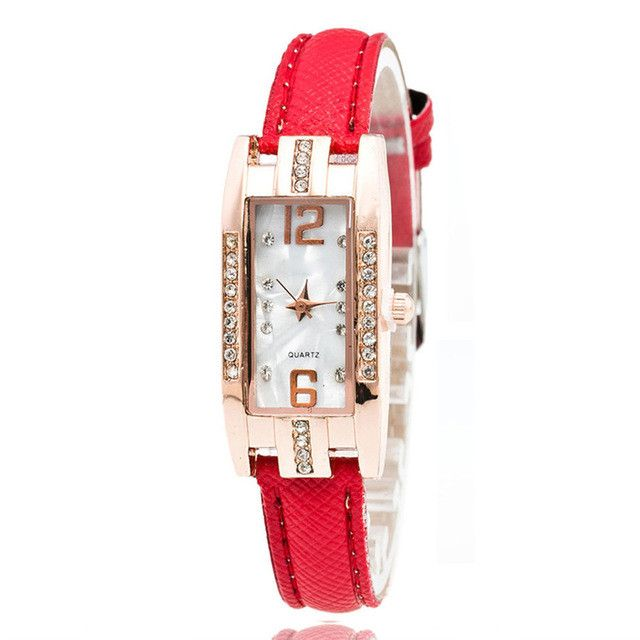OTOKY reloj Quartz Women Watch Fashion Diamonds Dress Ladies Casual Crystal Thin Wristwatch Leather strap #10 Gift 1pc