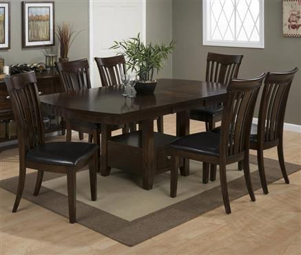 Jofran Mirandela Birch 5 Piece Dining Set With Storage Table U0026 4 Chairs   Old  Brick Furniture   Dining 7 (or More) Piece Set