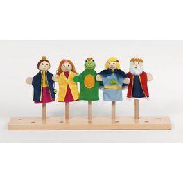 Marionnettes à doigt Roi des Grenouilles X 5