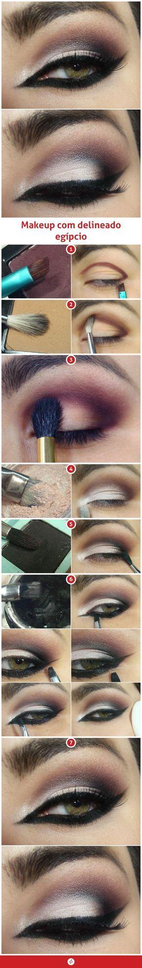 Makeup com delineado eg