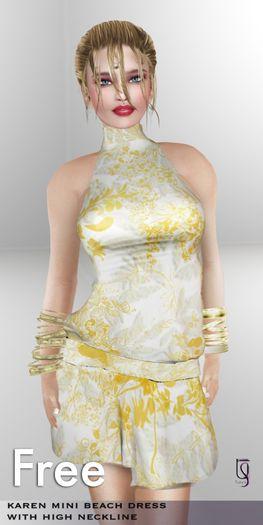 TuTy's FREE! Karen Mesh Silk Beach Dress