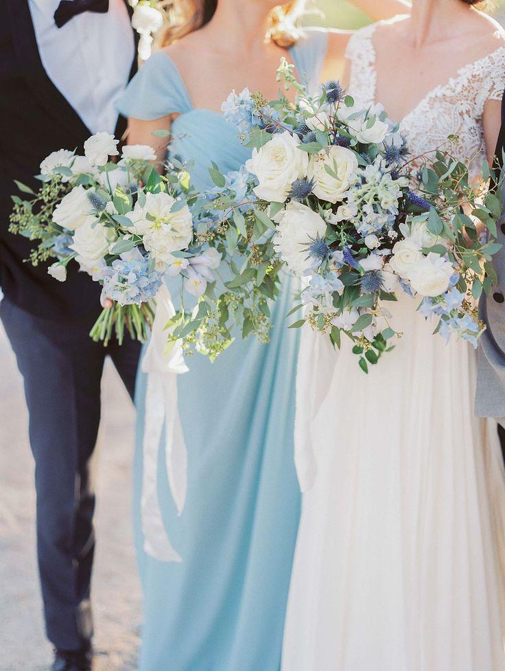 Http Weddingsparrow Article Elopement Among Desert Blue Bridal Bouquetswedding