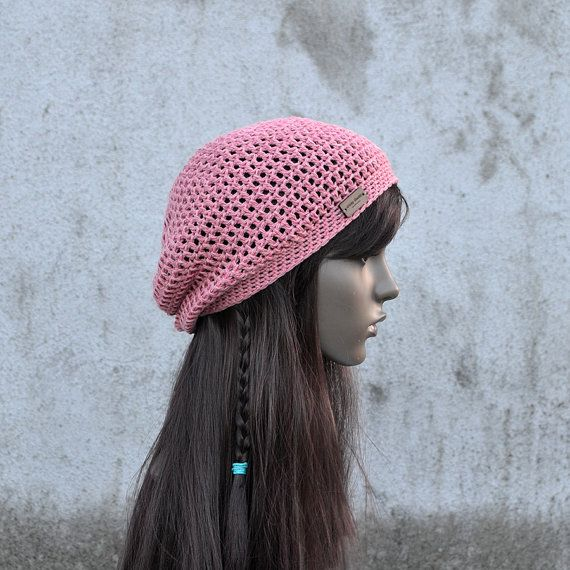 Spring / Summer Crochet Hat in Old Pink Cool Hat by acrazysheep
