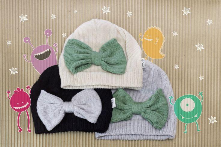 moños #maquis #gorro #moños #tejido #knitt #hats #lace #fw16