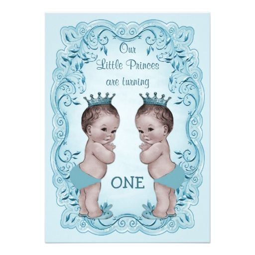 Best Baby Twins St Birthday Party Invitations Images On - Birthday invitation cards twins