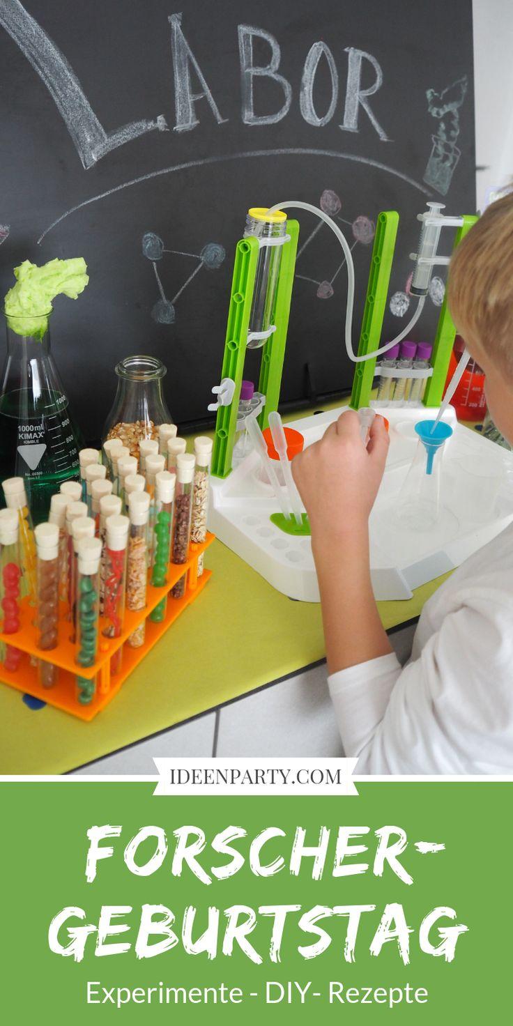 Für unseren Forschergeburtstag haben wir mit ganz einfachen Mitteln ein kleines Labor in unserer Küche eingerichtet. Die Kinder konnten eigene Exper…