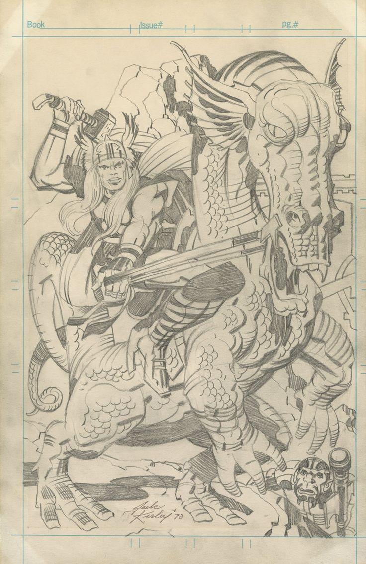Jack Kirby pencils Thor