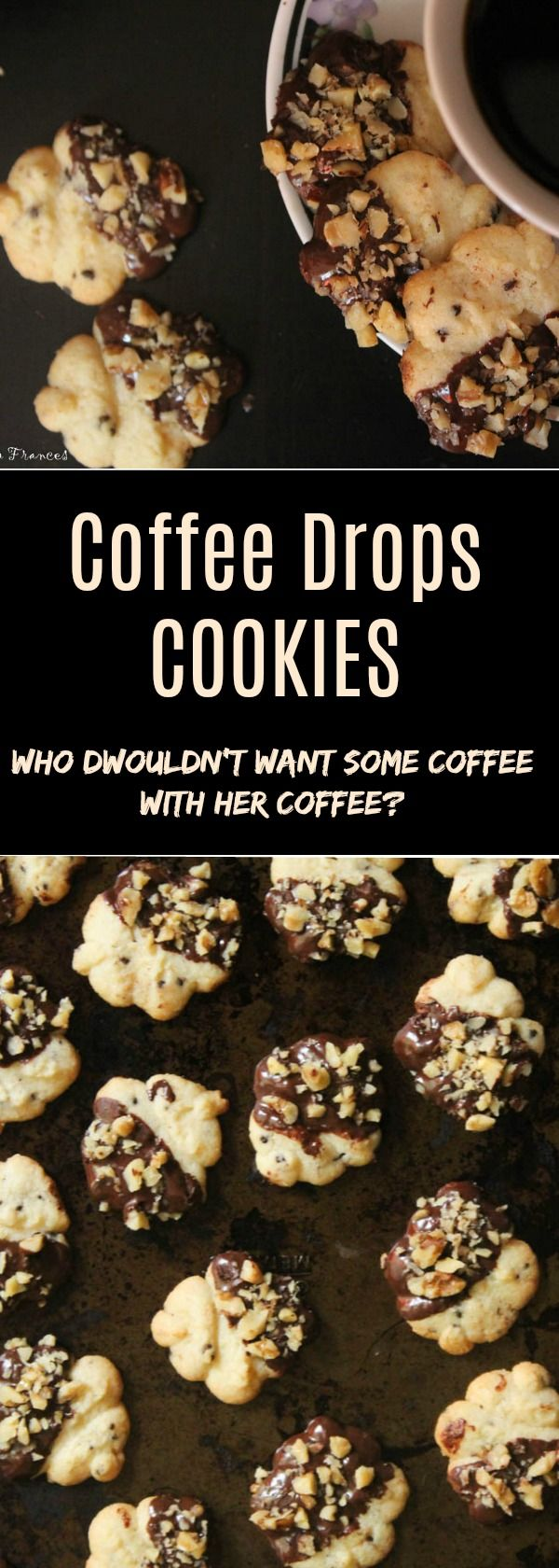 These Coffee Drops Cookies are crunchy, sweet and loaded with coffee essence. Because who doesn't need some coffee with their coffee?