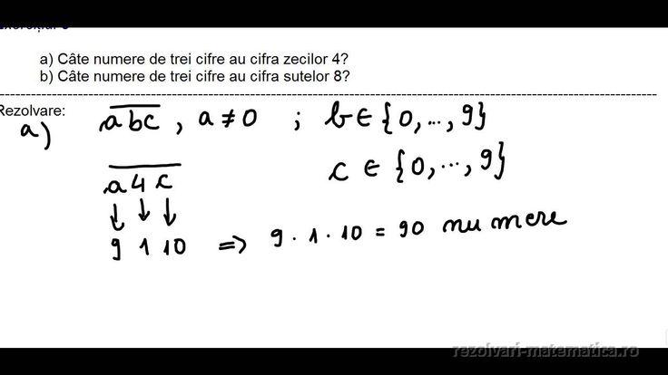 CLASA a V-a - Cap. Numere naturale - Scrierea și citirea numerelor naturale  Exercițiul 3 a) Câte numere de trei cifre au cifra zecilor 4? b) Câte numere de trei cifre au cifra sutelor 8?