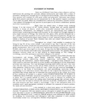 My personal statement essay