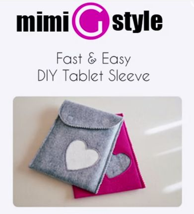 Sewing Mimi G's Easy DIY Tablet Sleeve - Free PDF Pattern + Video Tutorial