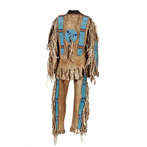 Thompson River -- home of the Salish Nations of British Columbia and upper Washington State -- Beaded Hide War Shirt and Leggings :