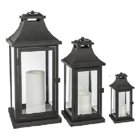 northern gl28647bk battery operated lantern black pack 3