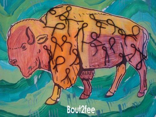 Le bison - amérindiens
