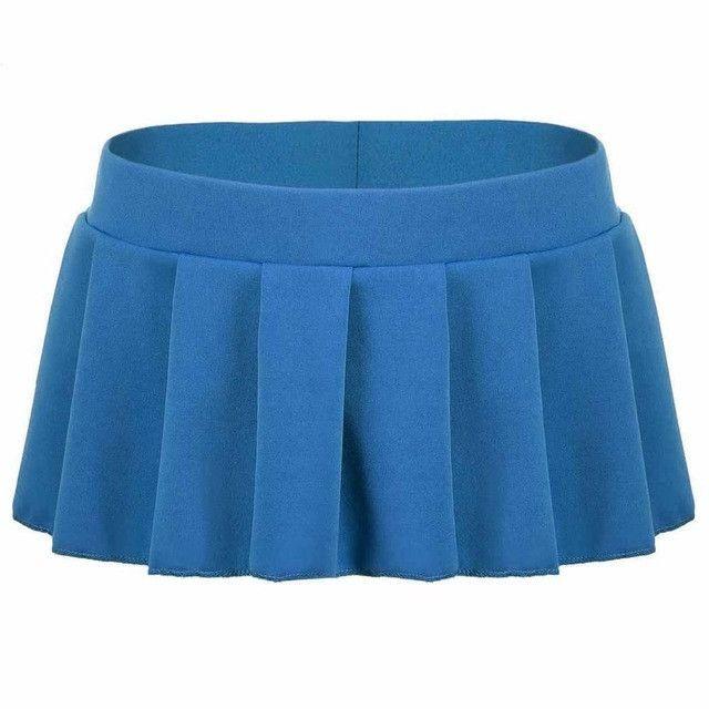 POGTMM 2017 Sexy Micro Mini Skirts Women Summer Short Pleated Skirt Erotica Female Bottoms XXL Pink White Black Green Blue L3