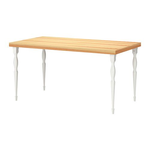 Desk For Home Office TORNLIDEN NIPEN Table IKEA Pre Drilled Leg Holes Easy Assembly Solid Wood Is A Durable Natural Material