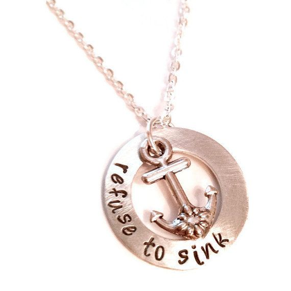 Hand Stamped Mom Necklace Couples Necklace Mothers Day Necklace